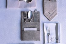 Wedding napkin folds