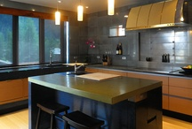 Concrete Countertops / Various concrete countertop ideas for kitchen, bath and more including many by CHENG Design / Fu-Tung Cheng.