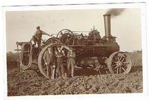 UK Ploughing Engines B&W photos