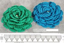 Szydełkowe kwiaty / szydełkowe kwiatki - wzory, crochet flower, scheme and pattern