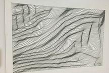 Çizgi çalışması / Çizgi nokta çalışması mimari dekoratif ve sanatlar