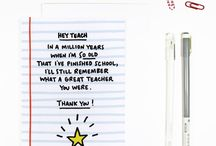 Cards for teachers and students