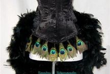 Sewing Inspiration: Dress with Peacock / Dresses that have Peacock feathers, or cloth with Peacock feather pattern. Might become an interessting collection of pictures