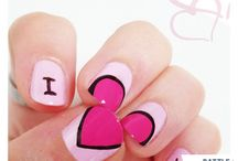 Nails-valentines day