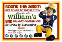 Ethan's 3rd birthday / Fireman Sam  / by Angie Rollins Williams