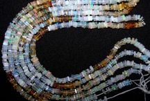 Square Heishi Gemstone Beads / More than 30 Gemstones available in this unique Square Flat Heishi Beads Strings