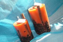Cappuccino candles / Decorative candles with cappuccino essence
