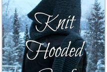 Hooded scarf nitting , crochet
