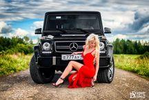 Un model rus și un Mercedes Benz G63 AMG / Frumoasa îmblânzește Bestia!