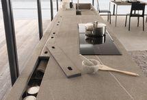 Küchenarbeitsplatte -Fächer