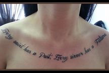 Lettering Tattoos / Lettering Tattoos by Dolly's Skin Art Tattoo in Kamloops BC Canada. A professional and relaxing experience for all your tattoo needs.  dollysskinart.com