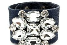 leather rhinestone bracelet ideas