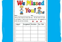 Mrs. Line's Teaching: Sub Plans & Absent Students / by Courtney Line
