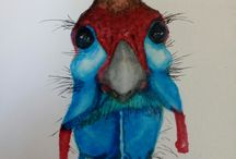 My paintings Chameleon pen