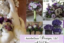 Purple Weddings / Each pin is a collage of a wedding with purple wedding flowers for ceremony and reception decorations