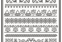 Blackwork Черно-белая вышивка