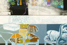 Malerier / Her kan du følge med i billekunstner Ann-Lisbeth Albek Sanvigs arbejde med hendes malerier og udstillinger
