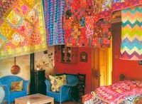 All amazing colourful quilts.