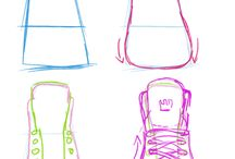Shoes tutorial drawing