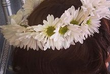 Flower girl head wreaths or baskets