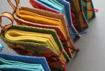 Fabric and altered book ideas / For construction and inspiration to make wool books