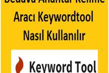 Anahtar Kelime Siteleri Araçları / Makale yazmak için kullanılacak bedava anahtar kelime araştırma araçları
