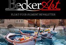 Watercolorist David R Becker's BeckerArt Float-Your-Pigment Newsletter / Float-Your-Pigment Newsletter