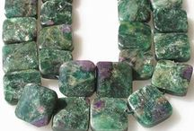 Stone Beads > Fuschite Beads / Natural Fuschite Beads in a variety of shapes, styles and sizes.