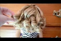 How to curl a doll's hair / I like curling doll's hair
