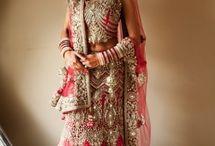 Bridal lehenga chunni draping