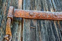 rusty/old hinges