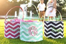 Easter 2015 / Monogrammed Easter Dresses, baskets and rompers for your little ladies and gentlemen. #monogrammed #easter #baskets / by Carolina Clover