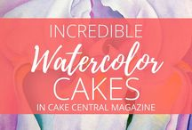 Watercolor Cakes / Do you love the trend of water color painting on cakes? We do! Grab a paintbrush and get inspired to create by this collection of stunning water color cakes. #watercolor #cakes #watercolor #painting #cake-hand-painted #cakecentral