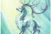 Deers, goats...
