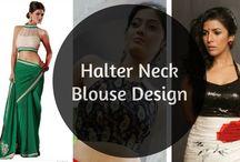 halter neck blouse design