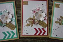 Karten mit Blüten