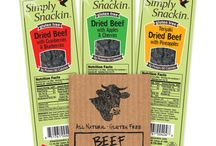 Simply Snackin / Convenient and healthy jerky that is all-natural, gluten-free, high in protein, and low in carb. https://savorfull.com/brand/simply-snackin/