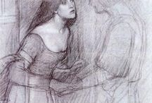 Pre Raphaelite Painters / The art of people like J.W. Waterhouse.