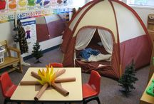 Camping Theme / Preschool, kindergarten, early elementary theme / unit curriculum, crafts, songs, finger plays, printables, games, math, science, ideas.
