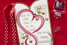Valentines Day Embroidery Designs / Valentines Day embroidery designs, hearts, love & in the hoop cards