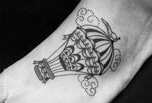 Tattoo - Airship and balloon