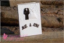 Ślub / Inspiracje ślubne - cardmaking i scrapbooking, przy użyciu produktów marki Papelia.