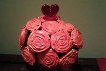 mother's day cupcake and fruit bouquets / Edible cupcake and fruit bouquets specials from $55