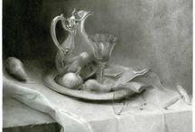 Trines drawings / På denne tavlen kan du se tegninger av Trine H Brandeggen