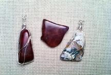 Jewelry / Wire wrapped rock / by Judy Leyerly