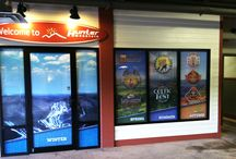 Window Graphics / Add color to your store front with these custom window graphics.