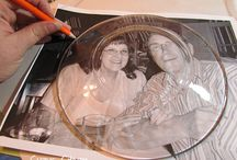 Decoupage on glass plates