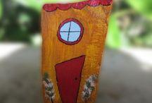 Brincando de pintar - Playing Paint / Artesanato - Pintura sobre pedras Craft - Painting on rocks