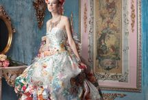 Love it multicolor flowery wedding dress