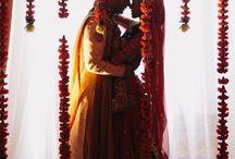 #Beautiful  #couple  #looking  #eachother   #flower  #shadow  #sherwani  #lehnga  #capture / Click